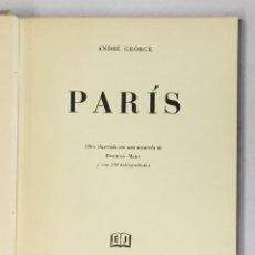 Libros antiguos: PARÍS. - GEORGE, ANDRÉ. . Lote 180460531