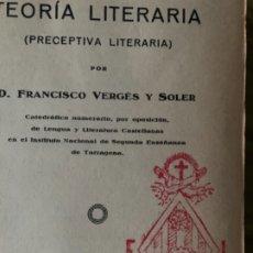 Libros antiguos: PRECEPTIVA LITERARIA. PRÁCTICAS LITERARIAS. Lote 180488902