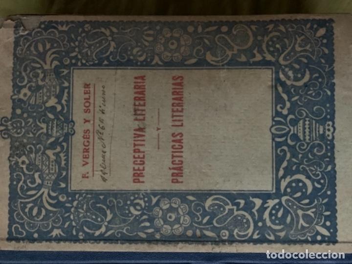 Libros antiguos: Preceptiva literaria. Prácticas literarias - Foto 2 - 180488902