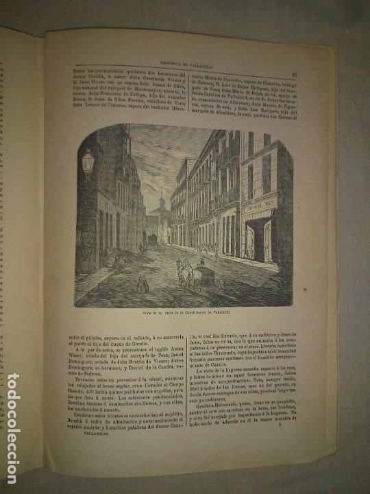 Libros antiguos: CRONICA DE LA PROVINCIA DE VALLADOLID - AÑO 1869 - D.F.FULGOSIO - GRABADOS. - Foto 6 - 180489961