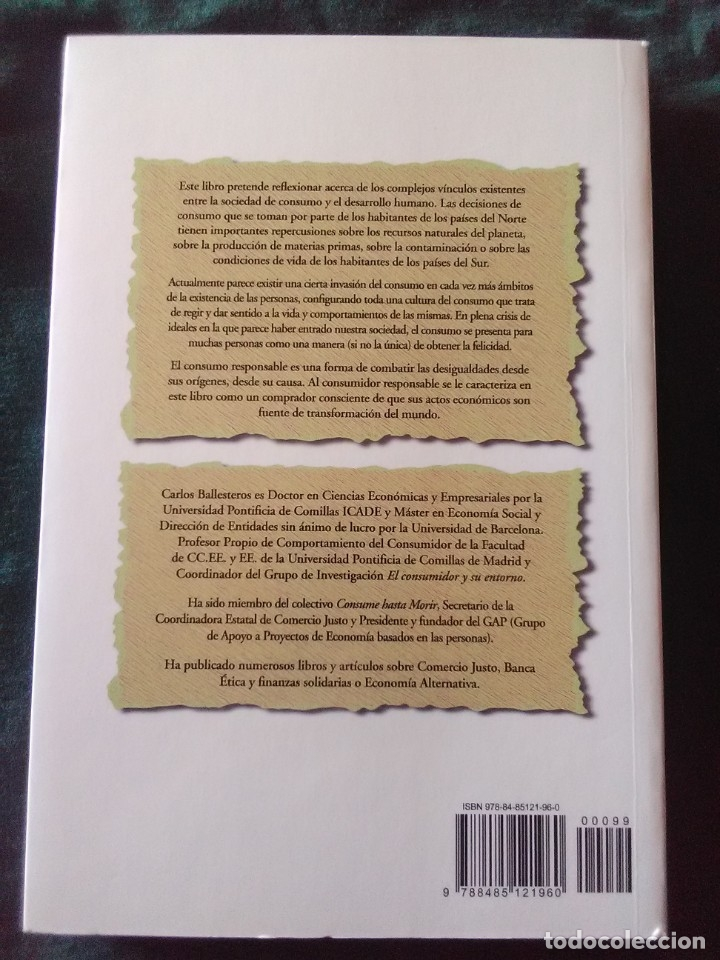 Libros antiguos: Tu compra es tu voto - Carlos Ballesteros - 1ª Edicion de 2007 - Foto 2 - 180858115