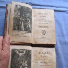 Libros antiguos: RICARDO Y SOFIA LOS YERROS DEL AMOR - NOVELA INGLESA - 1818 - 2 TOMOS. Lote 180864845