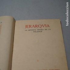 Libros antiguos: JERARQVIA. LA REVISTA NEGRA DE LA FALANGE. 1938. Lote 180867180