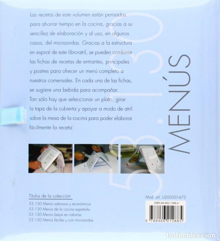 Libros antiguos: GASTROALIMENTO: 53,130 Menús Fáciles Y Con Microondas - Foto 2 - 180928410