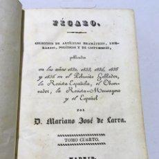 Libros antiguos: MARIANO JOSÉ DE LARRA - FÍGARO - ARTÍCULOS - TOMOS 4 Y 5 - 1837. Lote 180943442