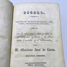 Libros antiguos: MARIANO JOSÉ DE LARRA - FÍGARO - ARTÍCULOS - TOMOS 2 Y 3 - 1837. Lote 180945441