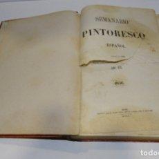 Libros antiguos: SEMANARIO PINTORESCO ESPAÑOL 1856. Lote 181013632