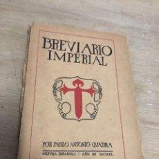 Libros antiguos: BREVARIO IMPERIAL. Lote 181029107