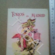 Libros antiguos: TUBAL TOROS EN MADRID DEDICADO A JUAN GARCIA NOVILLERO EN LA EPOCA U1. Lote 181314178