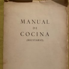 Libros antiguos: MANUAL DE COCINA (RECETARIO)'. Lote 181425473