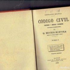 Libros antiguos: CODIGO CIVIL POR Q.MUCIUS SCAEVOLA 1902 EN BUEN ESTADO 19 TOMOS RESERVADO. Lote 181463976