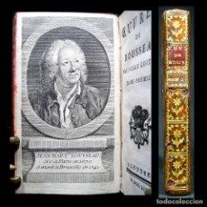 Libros antiguos: AÑO 1753 ROUSSEAU EXTRAORDINARIO GRABADO FRONTISPICIO ODAS Y CANTATAS RARO JEAN-BAPTISTE ROUSSEAU. Lote 181490221