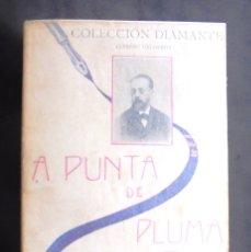 Libros antiguos: A PUNTA DE PLUMA ALFREDO CALDERÓN CA. 1902 COLECCIÓN DIAMANTE ANTONIO LÓPEZ, EDITOR, BARCELONA. Lote 181590862
