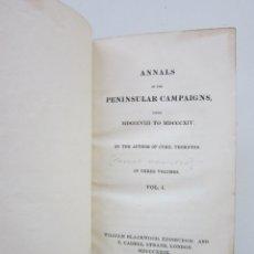Libros antiguos: THOMAS HAMILTON. ANNALS OF THE PENINSULAR CAMPAIGNS: FROM MDCCCVIII TO MDCCCXIV. Lote 181602696