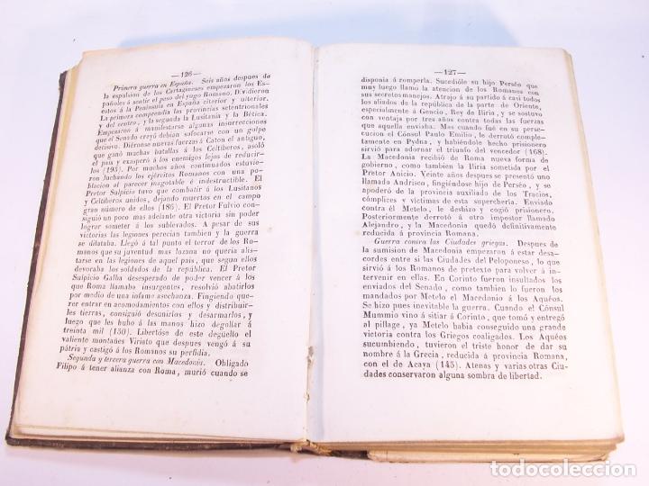 Libros antiguos: Curso elemental de Historia. Don Joaquín Federico de Rivera. Valladolid. Imprenta de D. M. Aparicio. - Foto 3 - 181752197