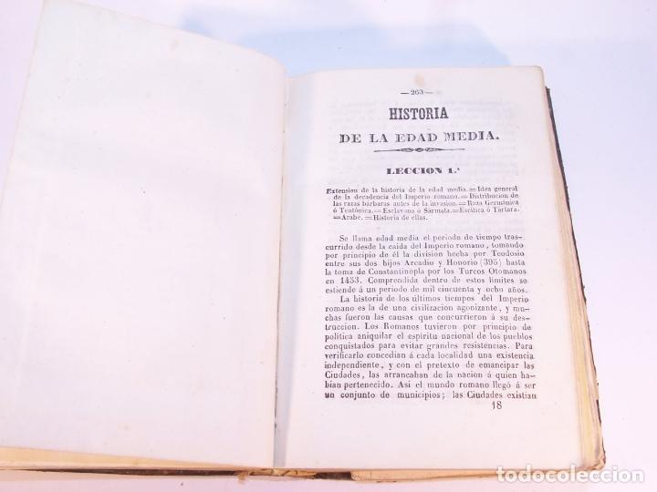 Libros antiguos: Curso elemental de Historia. Don Joaquín Federico de Rivera. Valladolid. Imprenta de D. M. Aparicio. - Foto 5 - 181752197