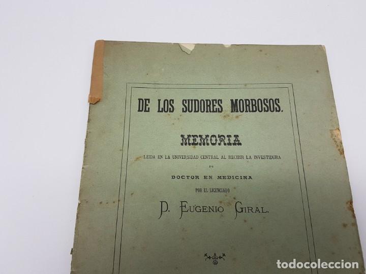 Libros antiguos: MEMÓRIA PARA DOCTOR MEDICINA ( SUDORES MORBOSOS ) BARCELONA 1881 - Foto 4 - 181999211