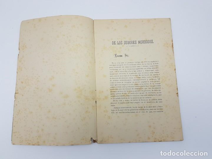 Libros antiguos: MEMÓRIA PARA DOCTOR MEDICINA ( SUDORES MORBOSOS ) BARCELONA 1881 - Foto 6 - 181999211