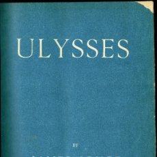 Libros antiguos: ULYSSES JAMES JOYCE 1922 FIRST ENGLISH EDITION EGOIST PRESS LONDON BOUND WHITMAN BENNETT NUMERADA. Lote 182024917