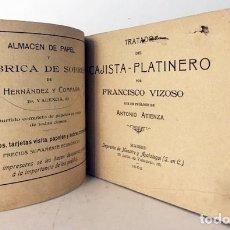 Libros antiguos: TRATADO DEL CAJISTA-PLATINERO. (VIZOSO. MADRID, 1902) ARTES GRÁFICAS ANTIGUAS. TIPOGRAFÍA. Lote 182051282