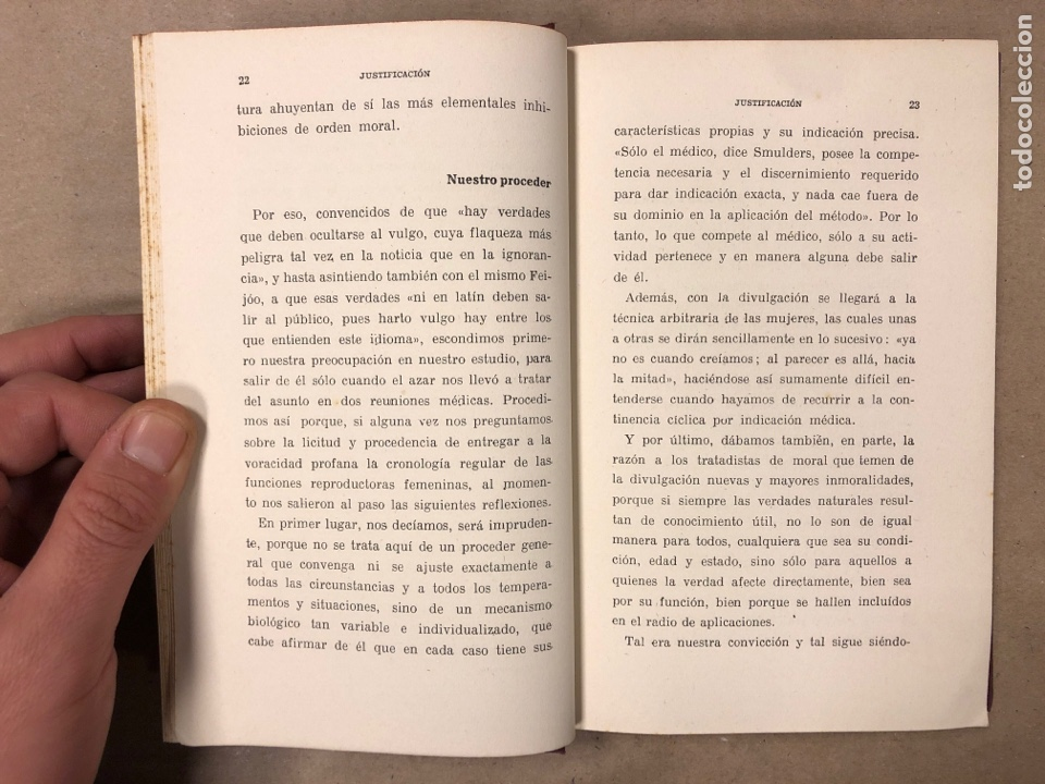 Libros antiguos: OGINOISMO, LIMITACIÓN MORAL DE LA NATALIDAD. J. BERMÚDEZ BERNARDO. SUCESORES DE JUAN GILI 1936 - Foto 3 - 182129942