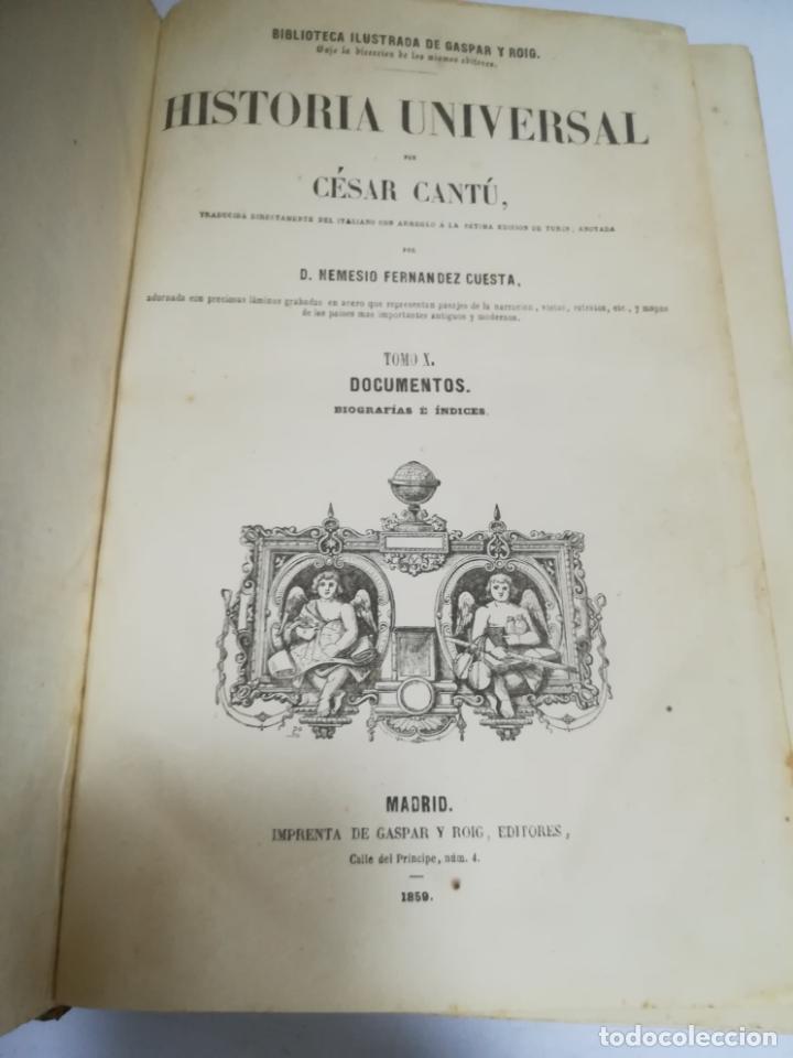 Libros antiguos: HISTORIA UNIVERSAL. CESAR CANTU. 10 TOMOS. 1854 - 1859. ILUSTRADO. IMPRENTA GASPAR Y ROIG. LEER - Foto 7 - 182149341