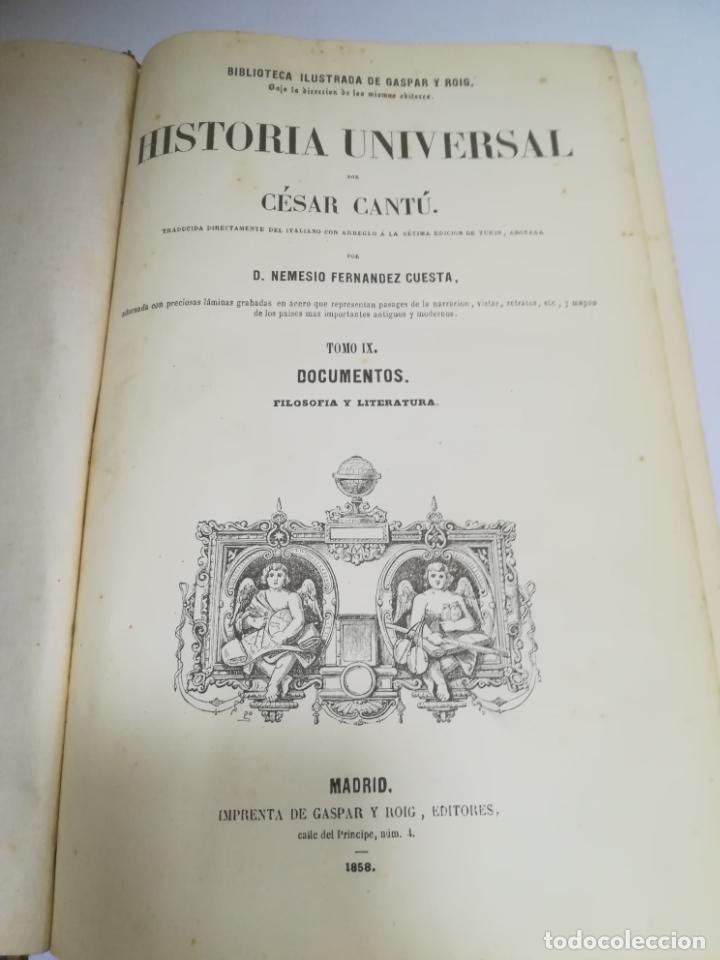 Libros antiguos: HISTORIA UNIVERSAL. CESAR CANTU. 10 TOMOS. 1854 - 1859. ILUSTRADO. IMPRENTA GASPAR Y ROIG. LEER - Foto 19 - 182149341