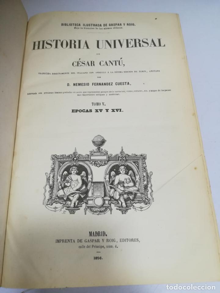 Libros antiguos: HISTORIA UNIVERSAL. CESAR CANTU. 10 TOMOS. 1854 - 1859. ILUSTRADO. IMPRENTA GASPAR Y ROIG. LEER - Foto 26 - 182149341