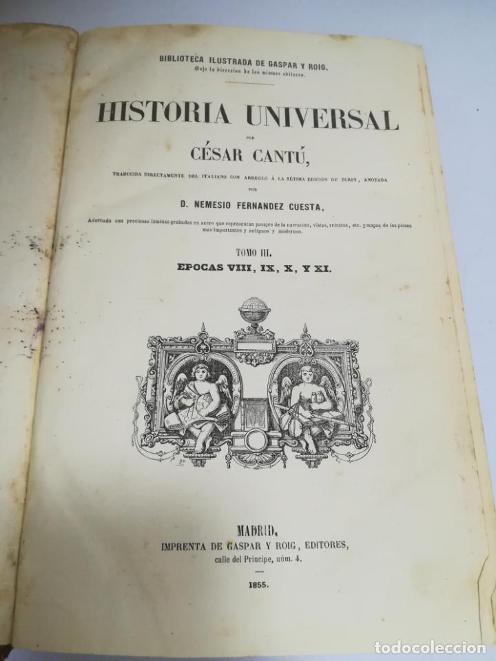 Libros antiguos: HISTORIA UNIVERSAL. CESAR CANTU. 10 TOMOS. 1854 - 1859. ILUSTRADO. IMPRENTA GASPAR Y ROIG. LEER - Foto 36 - 182149341