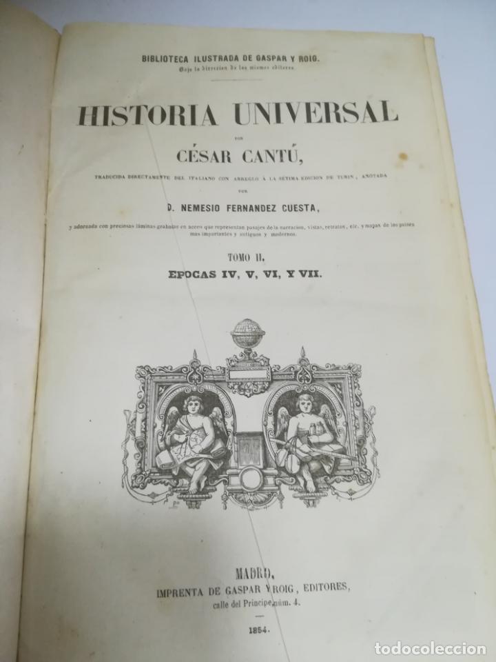 Libros antiguos: HISTORIA UNIVERSAL. CESAR CANTU. 10 TOMOS. 1854 - 1859. ILUSTRADO. IMPRENTA GASPAR Y ROIG. LEER - Foto 41 - 182149341