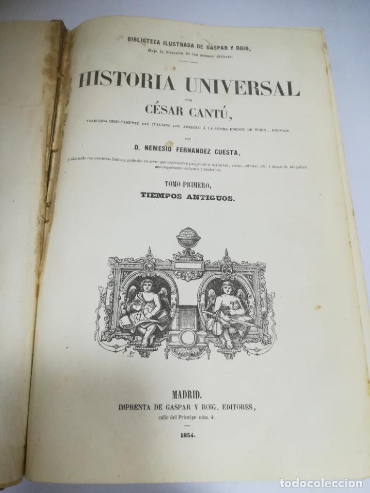 Libros antiguos: HISTORIA UNIVERSAL. CESAR CANTU. 10 TOMOS. 1854 - 1859. ILUSTRADO. IMPRENTA GASPAR Y ROIG. LEER - Foto 46 - 182149341