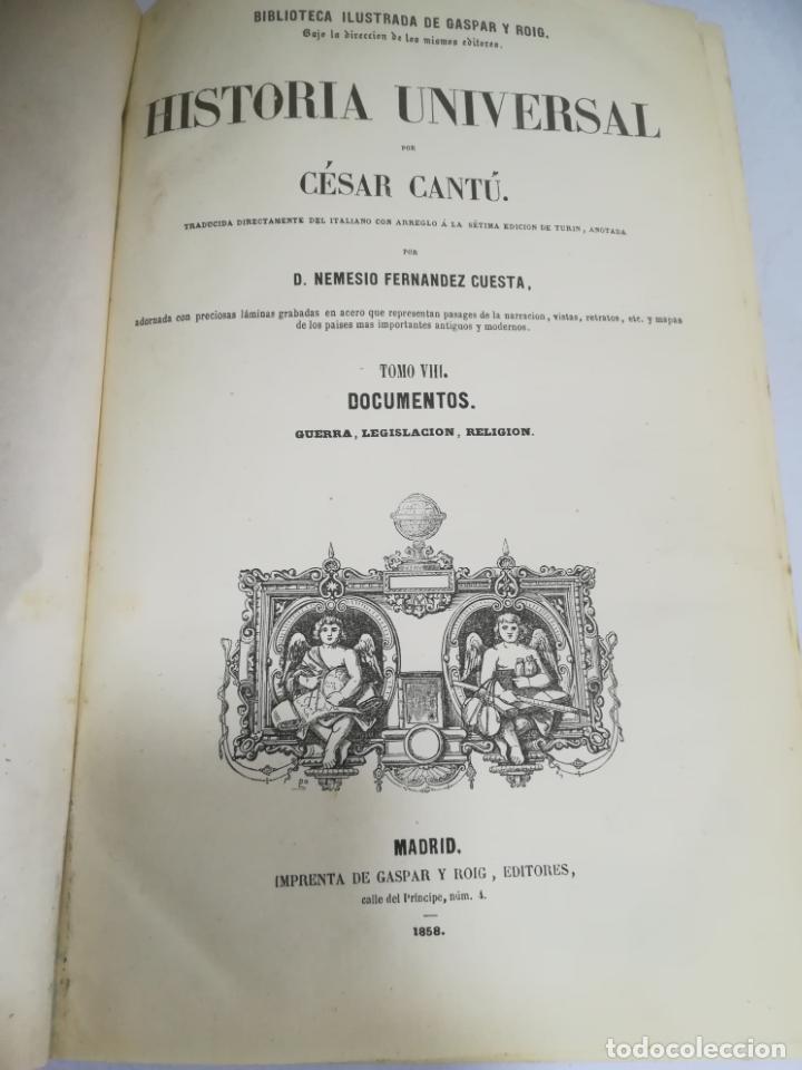 Libros antiguos: HISTORIA UNIVERSAL. CESAR CANTU. 10 TOMOS. 1854 - 1859. ILUSTRADO. IMPRENTA GASPAR Y ROIG. LEER - Foto 47 - 182149341