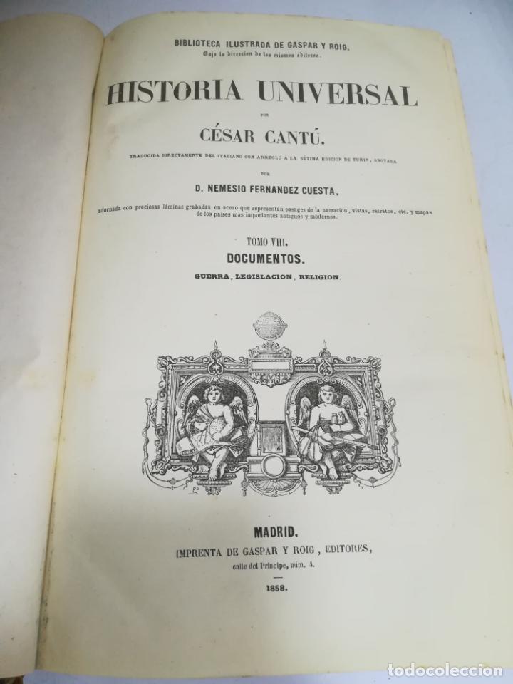 Libros antiguos: HISTORIA UNIVERSAL. CESAR CANTU. 10 TOMOS. 1854 - 1859. ILUSTRADO. IMPRENTA GASPAR Y ROIG. LEER - Foto 49 - 182149341