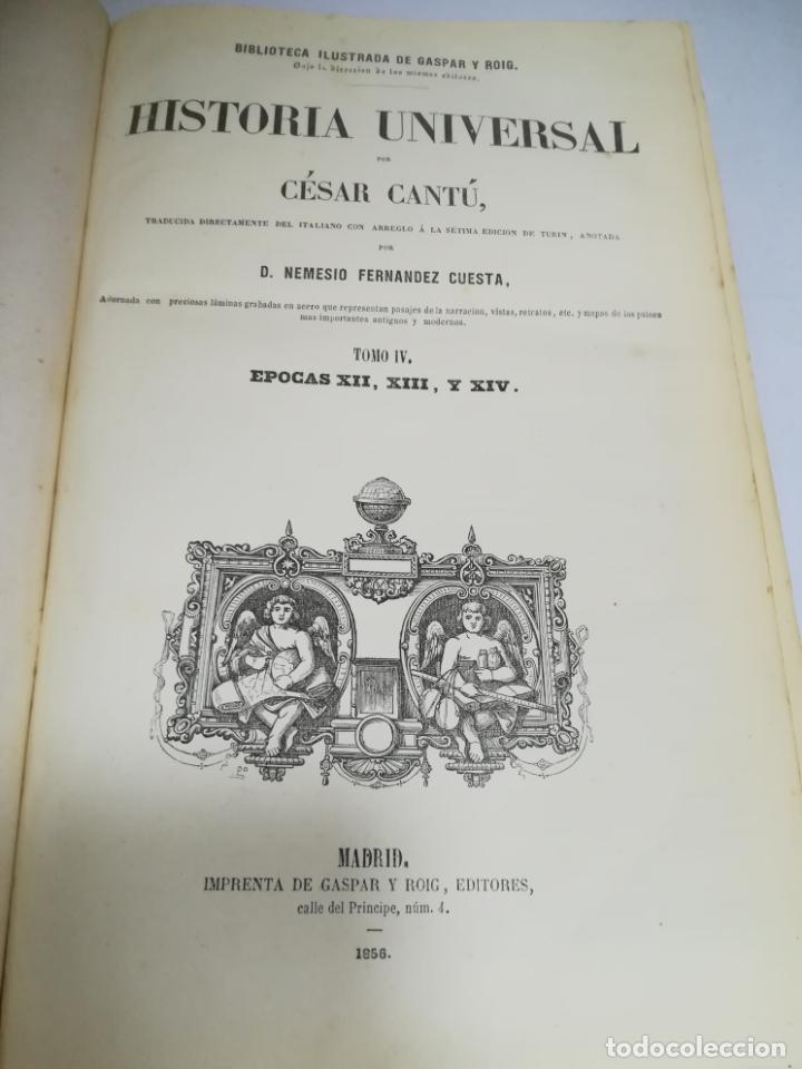Libros antiguos: HISTORIA UNIVERSAL. CESAR CANTU. 10 TOMOS. 1854 - 1859. ILUSTRADO. IMPRENTA GASPAR Y ROIG. LEER - Foto 58 - 182149341
