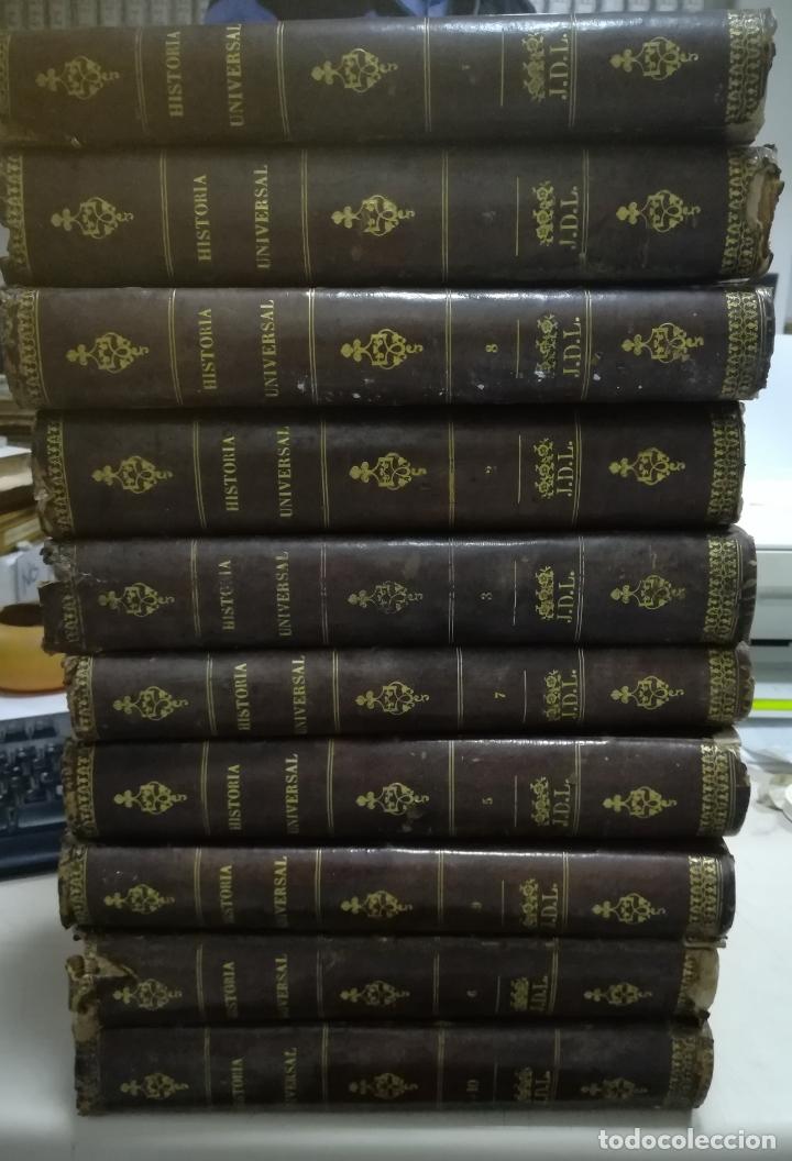 HISTORIA UNIVERSAL. CESAR CANTU. 10 TOMOS. 1854 - 1859. ILUSTRADO. IMPRENTA GASPAR Y ROIG. LEER (Libros Antiguos, Raros y Curiosos - Historia - Otros)