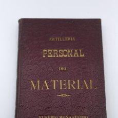Libros antiguos: ARTILLERIA PERSONAL DE MATERIAL 1907. Lote 182167802