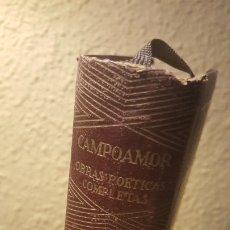 Libros antiguos: AUT.- CAMPOAMOR, TITULO OBRAS POÉTICAS COMPLETAS, AGUILAR, JOYA,JMOLINA1946. Lote 182197276