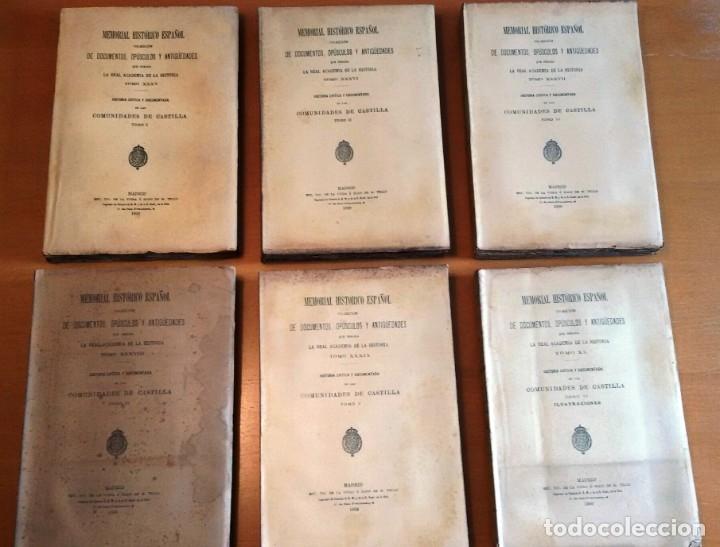 MEMORIAL HISTÓRICO ESPAÑOL. COMUNIDADES DE CASTILLA 6 TOMOS, COMPLETO (R.A.Hª 1897-1900) SIN USAR (Libros Antiguos, Raros y Curiosos - Historia - Otros)