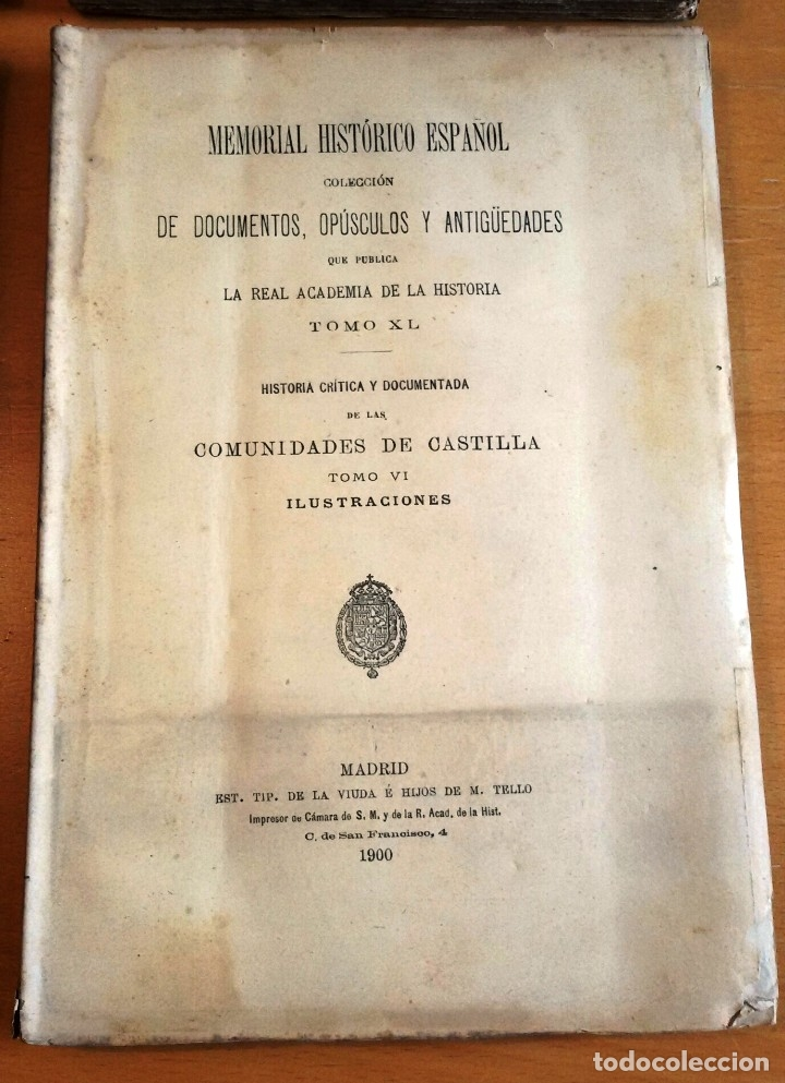 Libros antiguos: MEMORIAL HISTÓRICO ESPAÑOL. COMUNIDADES DE CASTILLA 6 TOMOS, COMPLETO (R.A.Hª 1897-1900) SIN USAR - Foto 2 - 182201821