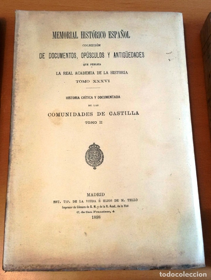 Libros antiguos: MEMORIAL HISTÓRICO ESPAÑOL. COMUNIDADES DE CASTILLA 6 TOMOS, COMPLETO (R.A.Hª 1897-1900) SIN USAR - Foto 6 - 182201821