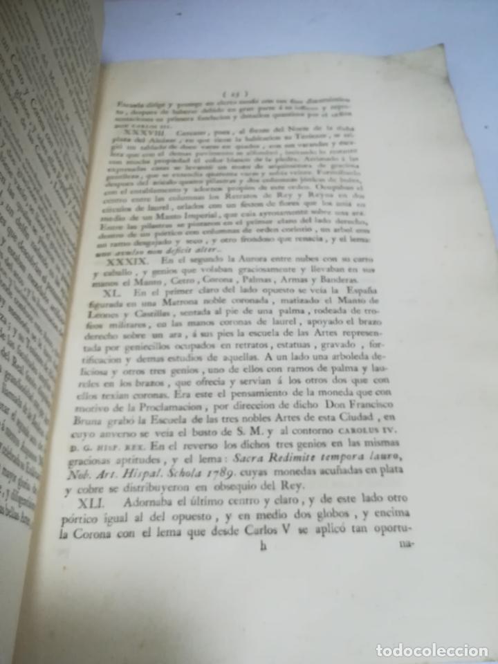 Libros antiguos: PROCLAMACION DE CARLOS IIII Y CELEBRACION EN SEVILLA. MANUEL GIL. 1790. IMP. VDA JOACHIN IBARRA. VER - Foto 2 - 182241573