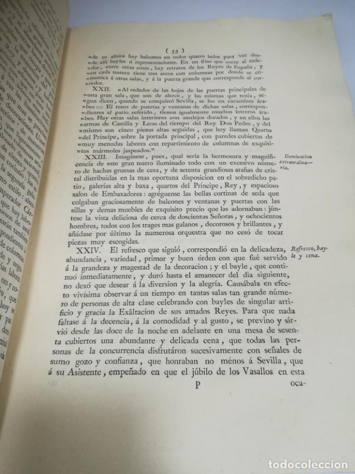 Libros antiguos: PROCLAMACION DE CARLOS IIII Y CELEBRACION EN SEVILLA. MANUEL GIL. 1790. IMP. VDA JOACHIN IBARRA. VER - Foto 5 - 182241573