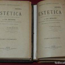 Libros antiguos: (MF) H GINER DE LOS RIOS - HEGEL ESTETICA VERSION CASTELLANA 2 EDICION, 2 TOMOS, COMPLETO, 1908. Lote 182269313