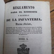 Libros antiguos: REGLAMENTO PARA EL EJERCICIO DE LA INFANTERIA. 1844. MUCHOS GRABADOS. MUY BONITO.. Lote 182283658