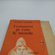 Livres anciens: COMMENT JE VOIS LE MONDE. ALBERT EINSTEIN. Lote 182290201