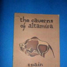 Libros antiguos: THE CAVERNS OF ALTAMIRA, SPAIN, PATRONATO NACIONAL DEL TURISMO, OBERMAIER, 1928. Lote 182293677