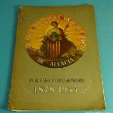 Libros antiguos: CAJA DE AHORROS Y MONTE DE PIEDAD DE VALENCIA. 75 ANIVERSARIO. 1878 - 1953. Lote 182378943