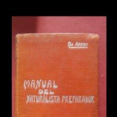 Livres anciens: MANUAL DEL NATURALISTA PREPARADOR. PABLO DE ARENY. Lote 182395142
