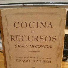 Libros antiguos: COCINA DE RECURSOS, IGNACIO DOMENECH.. Lote 182406646