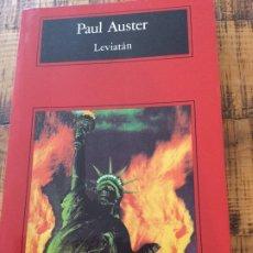 Livres anciens: PAUL AUSTER - LEVIATÁN - COMPACTOS ANAGRAMA-. Lote 182475715